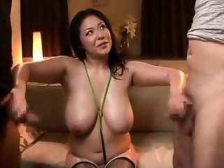 Busty Japanese showing big boobs