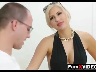 Clamminess old lady pummels son-in-law together with trains daughter-in-law - Total Free Mother Protrude Movies at one's disposal FamXvideos.com